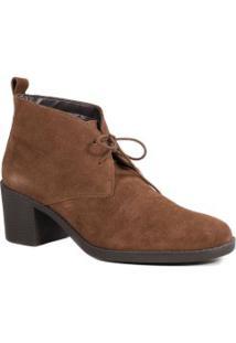 Bota Feminina Em Couro Zariff Ankle Boot