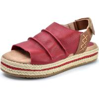 0ff5b4a80 Dafiti. Sandália Flatform Scarpan Calçados Finos Em Couro Vermelha