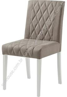 Cadeira Menta Estofada Tecido 100% Polieste Bege - 36191 - Sun House