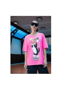 T-Shirt Descolada Rosa Ref: 502Ts002384 T-Shirt Descolada Rosa Ref: 502Ts002384 - M - Rosa My Favorite