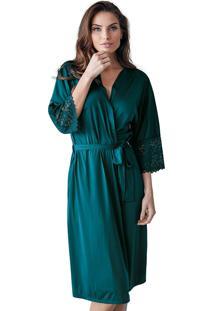 Robe Roupáo Nupcial Demillus 31005 Verde Esmeralda - Tricae