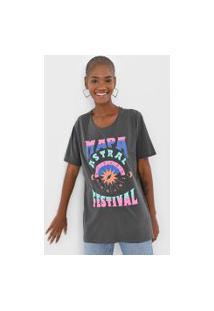 Camiseta Cantão Mapa Astral Festival Cinza