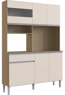 Cozinha Marina 1400 Brunne/Off White Genialflex Mã³Veis - Off-White - Dafiti
