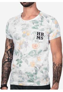 Camiseta Floral Hrms 101916
