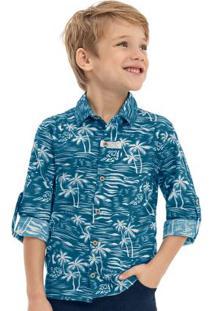 Camisa Biarritz Tropical Azul