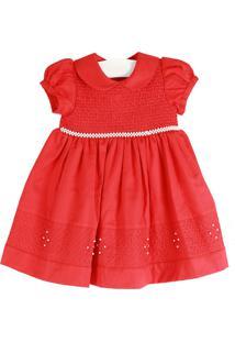 Vestido Cacau Baby Casinha De Abelha Vermelho