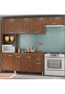 Cozinha Compacta Genova 8 Portas 1 Gaveta Seda - Viero Móveis