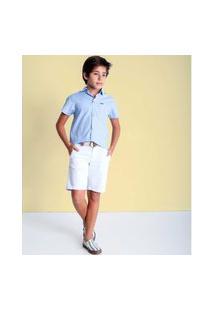 Camisa Classica Mc Micro Maquinetado Camisa Classica Mc Micro Maquinetado Azul 14