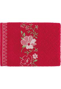 Toalha De Rosto Yuna- Vermelha & Branca- 48X80Cmkarsten
