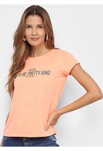 Camiseta Lecimar Pretty Kind Feminina - Feminino-Laranja
