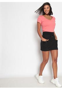 Camiseta Lisa Bordada- Laranjaus Polo