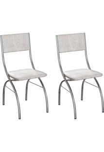Conjunto Com 2 Cadeiras Dubbo Palha E Cromado