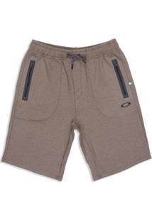 Bermuda De Passeio Link Series Fleece Short Oakley Masculina - Masculino-Marrom