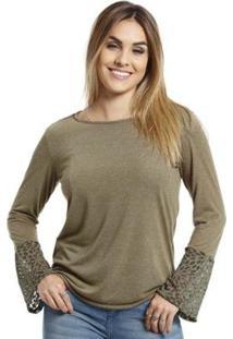 Camiseta Vlcs Manga Longa Feminino - Feminino