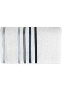 Toalha De Banho Lumina L Branca E Azul