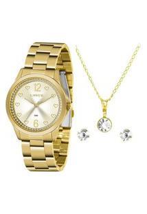 Relógio Lince Feminino Lrgj122L De Pulso Analógico Dourado