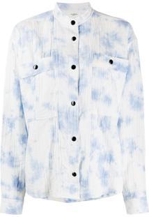 Isabel Marant Étoile Camisa Mangas Longas Com Estampa Barney - Azul