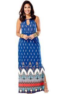 Vestido Estampado Mercatto 1795204 Azul