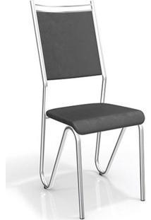 Conjunto 2 Cadeiras Londres Crome Kappesberg Preto