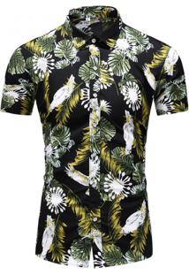 Camisa Floral Masculina - Floral Xg