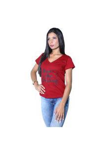Camiseta Heide Ribeiro Never Stop Dreaming Vinho