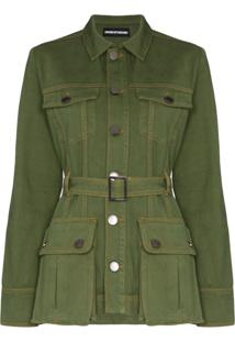 House Of Holland Belted Safari Jacket - Verde