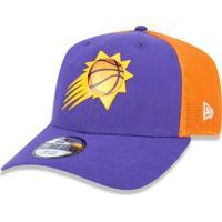 Boné New Era 3930 Phoenix Suns Aba Curva Roxo Laranja 46a26191e34