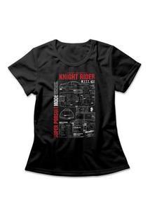 Camiseta Feminina Super Máquina Preto