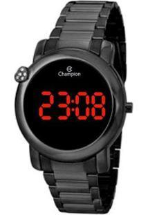 Relógio Champion Digital Ch48064D Feminino - Feminino-Preto