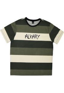 Camiseta Alkary Listras Degrade Verde