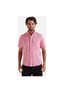 Camisa Mc Flame Leve Casual Reserva Rosa