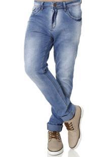 Calça Jeans Skinny Masculina Azul
