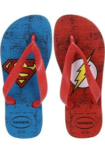 Chinelo Havaianas Herois Dc Infantil - Masculino