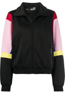 Love Moschino Colour-Block Track Jacket - Preto