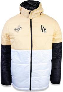 Jaqueta New Era Dupla Face Los Angeles Dodgers Amarelo/Branco