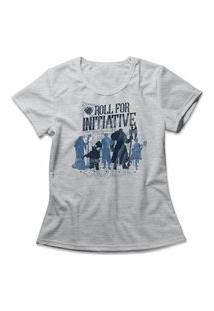 Camiseta Feminina Roll For Initiative Cinza