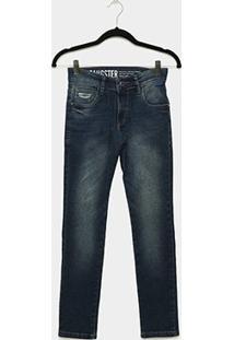 Calça Jeans Infantil Gangster Básica Masculina - Masculino-Jeans
