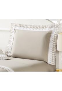 Fronha Luxury Algodão Bege 50X150