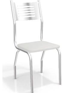 Conjunto 2 Cadeiras Kappesberg Crome Munique Ii Branco