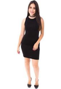 Vestido Moda Vicio Nadador Feminino - Feminino-Preto