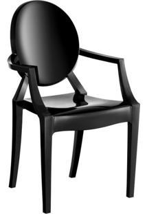 Cadeira De Plástico Wind Preta