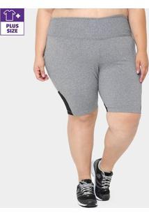Bermuda Plus Size Gonew Feminina - Feminino-Mescla