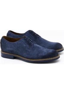 Sapato Social Spazzolato Camurça Ii - Masculino-Azul