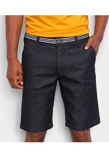 Bermuda Jeans Colcci Noah Listras Masculina - Masculino-Azul