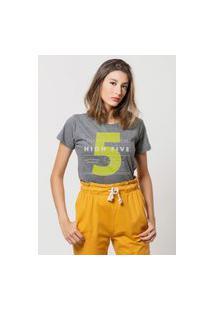 Camiseta Jay Jay Básica High Five Chumbo