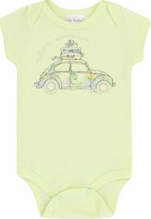 Body Infantil Carroup Baby Masculino - Masculino-Verde