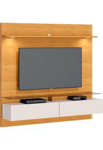 Estante Para Home Theater E Tv Até 60 Polegadas Vidratto Nature E Off White 182 Cm