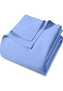 Lençol Avulso Queen Santista Royal Plus 130 Fios Azul
