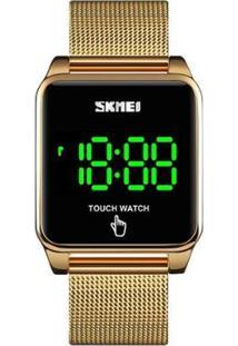 Relógio Skmei Digital - Unissex-Dourado