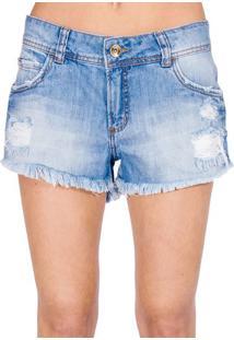Shorts Jeans Destroyed Colcci